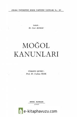 Curt Alinge - Moğol Kanunları