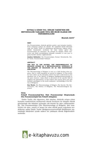 Mustafa Alıcı - Dinler Tarihi