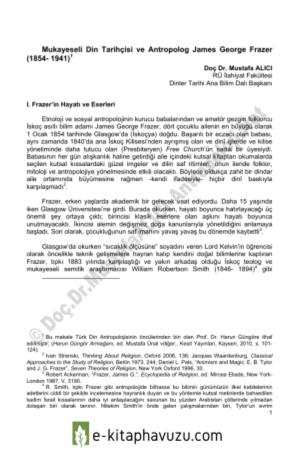 Mustafa Alıcı - Mukayeseli Din Tarihçisi Ve Antropolog James Georg