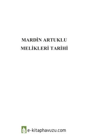 Yusuf Metin Yardımcı - Mardin Artuklu Melikleri Tarihi
