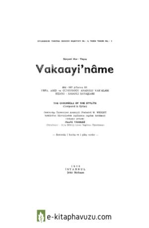 1A - Süryanî Mar–Yeşua - Vakaayi'Nâme