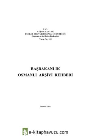 Başbakanlık Osmanlı Arşiv Rehberi