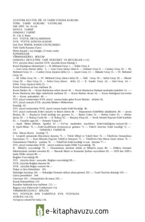 İ. Hakkı Uzunçarşılı - Osmanlı Tarihi 4. Cilt kiabı indir