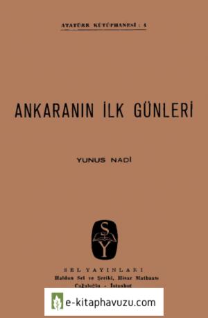 Yunus Nadi - Ankara'nın İlk Günleri kiabı indir