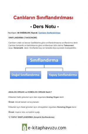 4. Taksonomi (Sınıflandırma Bilimi)