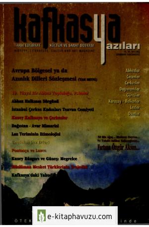 Kafkasya Yazıları 05 Sonbahar 1998 106-107. Sy. Eksik
