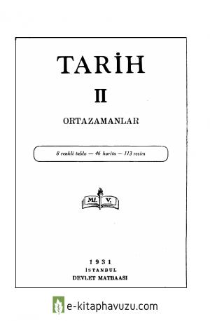 Maarif Vekaleti - Tarih - 2 - Orta Zamanlar