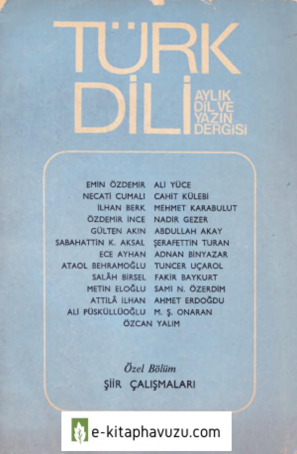 Türk Dili - Sayı 356 - Şiir Çalışmaları Özel Sayısı - Ağustos 1981-Cs