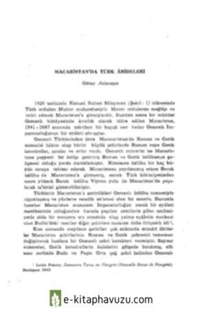 6-Oktay Aslanapa - Macaristan'da Tür