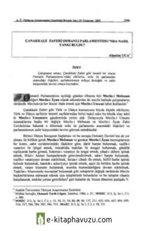 Alaattin Uca - Çanakkale Zaferi Osmanlı Parlamentosu Nda Nasıl Yankı Buldu
