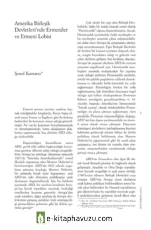 Amerika Birleşik Devletleri'Nde Ermeniler Ve Ermeni Lobisi