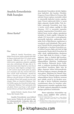 Anadolu Ermenilerinin Halk İnanışları Ahmet Kankal