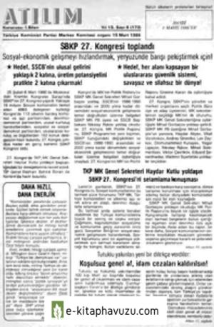 Atılım Sayı 172 15 Mart 1986