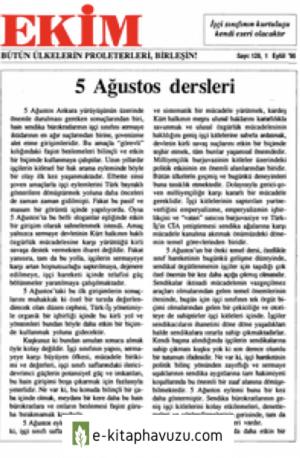 Ekim Sayı 128 01 Eylül 1995