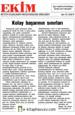 Ekim Sayı 176 01 Eylül 1997