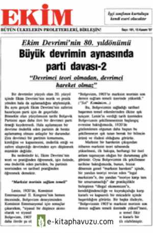 Ekim Sayı 181 15 Kasım 1997
