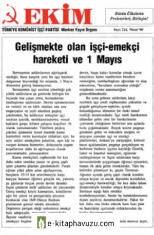 Ekim Sayı 214 Nisan 2000