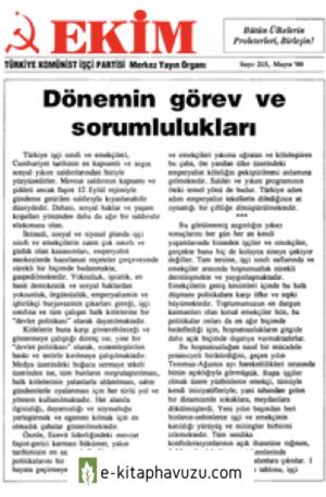 Ekim Sayı 215 Mayıs 2000
