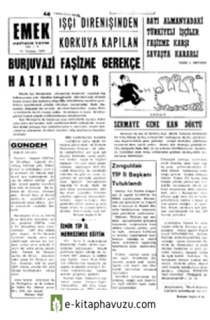 Emek Dergisi -Ek - Emek Haftalik - 8