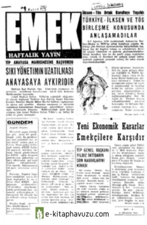 Emek Dergisi -Ek - Emek Haftalik - 9