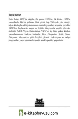 Enis Batur - Rakım Sıfır - Kırmızı Kedi Yayınları