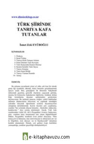 İsmet Zeki Eyüboğlu - Türk Şiirinde Tanrıya Kafa Tutanlar