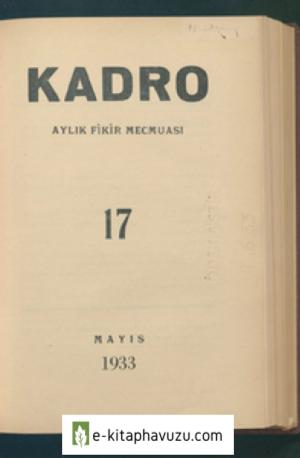 Kadro Dergisi Sayı 17 - Mayıs 1933