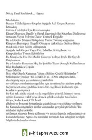 Necip Fazil Kisakurek - Hayati