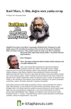 Peter Thompson(Guardian) - Karl Marx