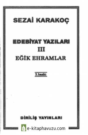 Sezai Karakoç - Edebiyat Yazıları.ııı