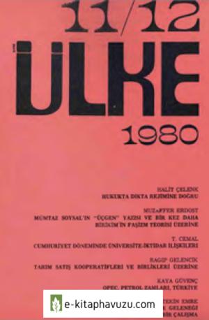 Yeni Ülke - Üç Aylık Siyasal Dergi - Sayı 11-12 - Nisan-Eylül- 1980-Cs